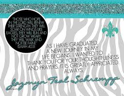 graduation announcement sayings thank you cards high school graduation thank you card