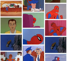 Spiderman Table Meme - 60 s spider man know your meme