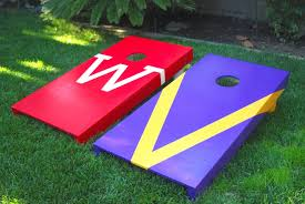 thirty and thrifty diy project bean bag toss set