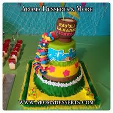 Luau Cake Decorations Aroma Desserts And More Hawaiian Luau Cake And Decorated Jello