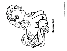 rainbow dash coloring pages kids pictures pony flying