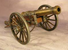 vintage brass cannon ships cannon fort cannon vintage brass