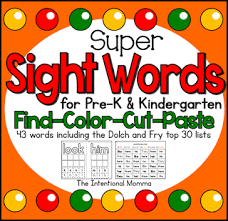 teaching sight words to preschoolers the intentional momma