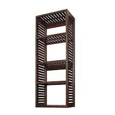 shop allen roth 76 in java wood closet tower at lowes com