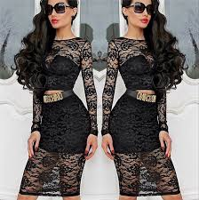 sale women lace see through club dress lalalilo com
