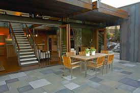 Awning Furniture Metal Outdoor Floor Patio Modern With Outdoor Wooden Chairs