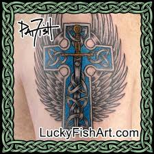 celtic cross tattoos u2013 luckyfish art