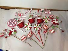 set of 14 peppermint candyland christmas tree toppers decorations