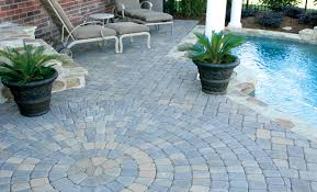 Simple Brick Patio With Circle Paver Kit Patio Designs And Ideas by Plaza Stone Iv Circle Pack 60mm