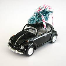 vw bug beetle ornament with tree on top the co