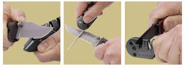 How To Sharpen Serrated Kitchen Knives Amazon Com Lansky Ps Med01 Blademedic Sports U0026 Outdoors