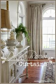 Curtains For Dining Room Dining Room Curtains Stonegable