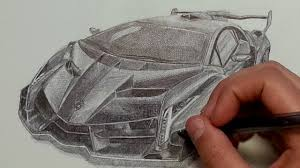 ferrari front drawing lamborghini veneno drawing with ballpoint pen youtube