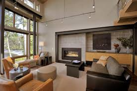 contemporary homes interior designs beautiful lakefront house with large windows surrounded by