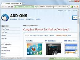 change themes on mozilla how to install thunderbird themes 12 steps with pictures