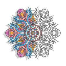 mandala coloring book adults color therapy sithichai
