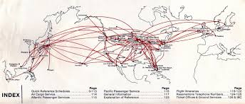 Allegiant Air Route Map by Airline Timetables Northwest Orient Airlines June 1985