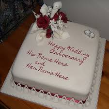 wedding cake name anniversary cake with name