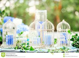 wedding decor with birdcages and candles stock photo image 50078927