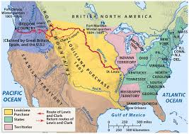 usa map louisiana purchase history of the american west