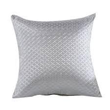 Throws And Cushions For Sofas Amazon Com Elegant Grid Throw Pillow Case Home Sofa