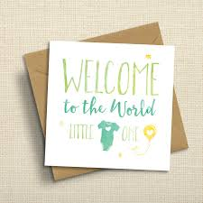 baby card welcome to the world new baby card by ivorymint stationery