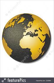 3d africa map vector globe africa illustration