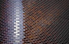 abstract background with corner of decorative brick wall stock
