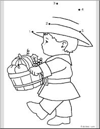 dot to dot thanksgiving pilgrim boy to 5 abcteach