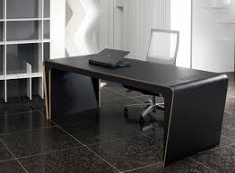 Office Desk Leather Top Captivating Black Executive Desks Leather Top And Side Cover