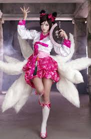 Womens Fox Halloween Costume Cheap Ahri Cosplay Aliexpress Alibaba Group