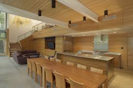 terrific wooden kitchen dining room decor ideas with black ceiling