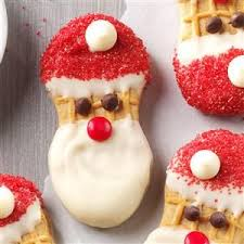 santa claus cookies recipe mini chips peanut butter sandwich