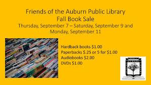 friends auburn public library u0027s out book sale u2013 fogl