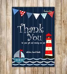 nautical thank you cards navy blue nautical thank you card navy sailboat baby shower
