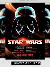 star wars u2013 premium a5 flyer template exclsiveflyer free and