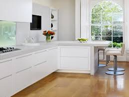 dark wood floor with white kitchen amazing sharp home design