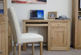 Rustic Desk Ideas White Leather Upholstered Chair With Natural Wooden Leg Combined