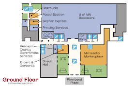 coffman memorial union student unions activities ground floor plan