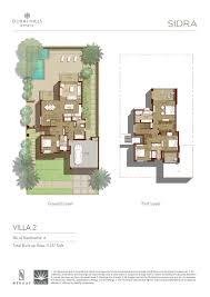 sidra villas emaar dubai hills estates off planproperties ae
