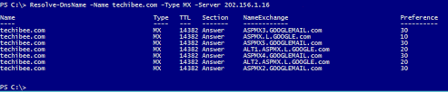 Dns Nslookup How To Find by Powershell Query Dns Server For A Ptr Mx Ns And Other Records