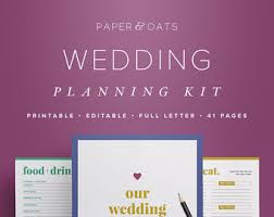 wedding oats printable planners organizers for home business by paperandoats