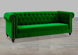 Green Leather Sofa by Green Velvet Sofa Button Tufted