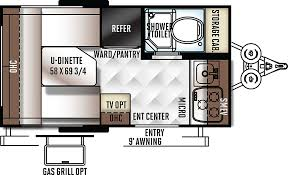 Rockwood Trailers Floor Plans 2017 Rockwood Geo Pro 14fk 15 999