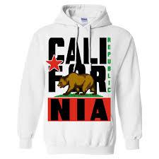 American Flag Hoodies For Men California Republic State Flag Hoodies Hooded Sweatshirts