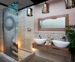 bathroom nice small bathroom design ideas with stylish gray large image for stunning bathroom desin with decorative buda glass door plus beautiful wooden vanity with