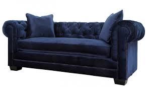 Velvet Chesterfield Sofa by Norwalk Navy Velvet Sofa By Tov Furniture Buy Online At Best Price