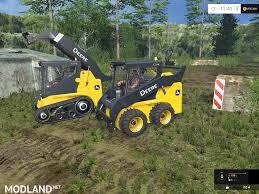 mustang 320 skid steer deere 320 skid steer loaders pack mod for farming simulator