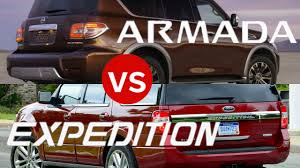 2017 nissan armada vs 2017 ford expedition youtube