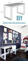 Diy Student Desk by Build Your Own Ikea Desk Desks Modern And White Table Top